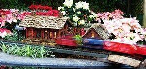 Trenes en miniatura en Lincoln Park Conservatory